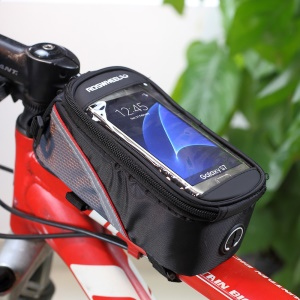 ROSWHEEL 4.8inch Bicycle Top Tube Bag for iPhone 6 6s (12496M-C5) - Black4