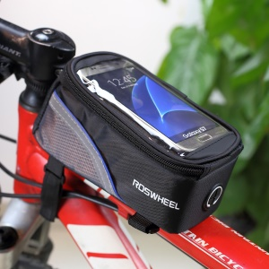ROSWHEEL 4.8inch Bicycle Top Tube Bag for iPhone 6 6s (12496M-C5) - Black6