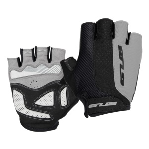 GUB [Half Finger] Anti-slip Pad Bike Gloves Gel Pad Short Gloves - Size: S / Grey