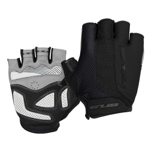 GUB [Half Finger] Anti-skid Pad Shockproof Bicycle Gloves Gel Pad Short Gloves - Size: M / Black