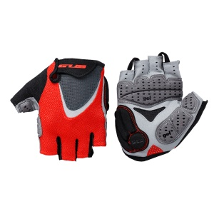 GUB FS1093 Half Finger Cycling Gloves Thickening Silicone Riding Gloves - Size: L / Red