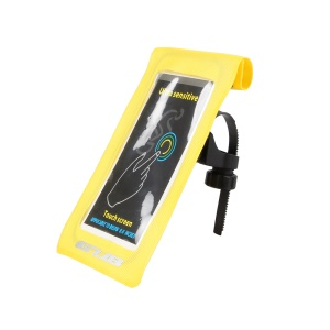 GUB 919 6-inch Cycling Bicycle Front Tube Handlebar Touch Screen Phone Bag - Yellow