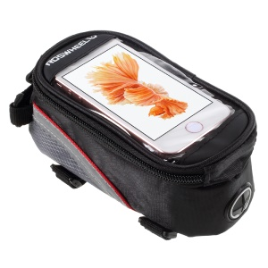ROSWHEEL 4.2inch Bicycle Top Tube Bag for iPhone 5 5s SE (12496S) - Red