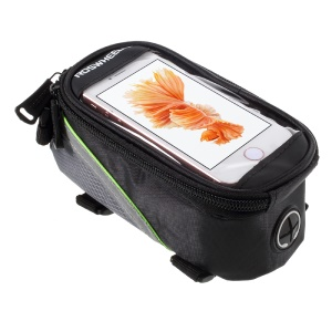 ROSWHEEL 4.2inch Bicycle Top Tube Bag for iPhone 5 5s SE (12496S) - Green