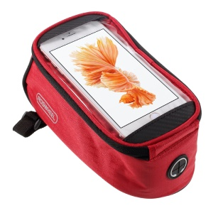 ROSWHEEL 5.5inch Bike Top Tube Bag Pouch for iPhone 6s Plus / Galaxy S7 (12496L) - Red