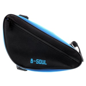 B-SOUL Bicycle Front Frame Triangle Cycling Tube Pouch Bag - Blue/Black