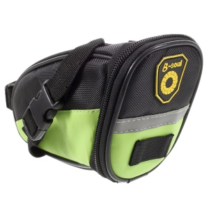 B-SOUL Outdoor Cycling Bike Bicycle Saddle Bag Under Seat Tail Pouch - Green