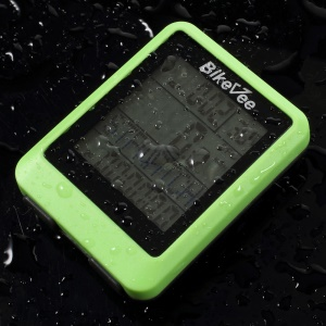 BIKEVEE Multifunctional Wireless Waterproof Bike Computer Speedometer Odometer - Green