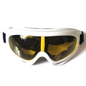 Outdoor Sports Windproof Adult Snowmobile Ski Goggles Protective Glasses - White Frame / Yellow Lens