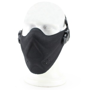 Máscara tática CS Outdoor Cycling Half Face Lightweight Protector Mask - Preto (MA-40-BK)