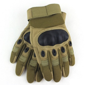 Full Finger Non-slip Gloves for Outdoor Sports Tactical Cycling - Brown / M Size