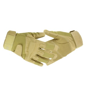 Full Finger Glove Outdoor Cycling Tactical Military Gloves - Khaki / L Size