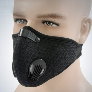 MLD Haze-proof Activated Carbon Half Face Mask Cycling Windproof Respirator - Black