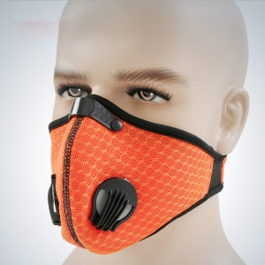 MLD Anti-dust Activated Carbon Riding Face Mask Cycling Windproof Respirator - Orange