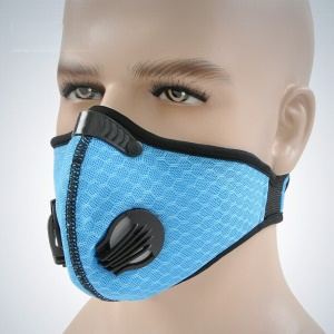 MLD Windproof Nylon Mesh Cycling Face Mask Riding Respirator - Blue
