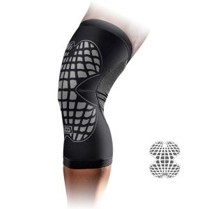 MLD Breathable Running Nylon Knee Pads Sport Knee Protector - Grey / L