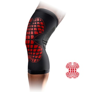 MLD Breathable Cycling Nylon Knee Pads Sport Knee Protector - Red / L