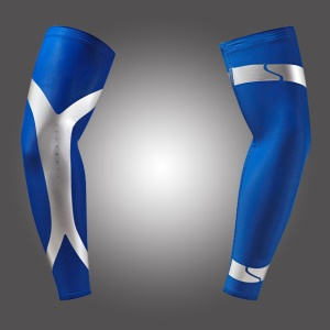 One Pair Compression Sports Long Arm Guard Sleeve for Basketball, Football, Running - Blue / XL Size