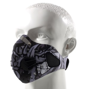 Outdoor Dust-proof Half Face Filter Mask Nylon Mouth-muffle with Carbon Fiber - Black