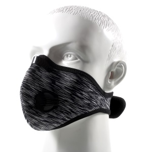 Outdoor Dust-proof Half Face Filter Mask Mouth-muffle with Carbon Fiber - Black