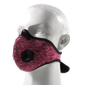 Outdoor Breathable Half Face Mask Mouth-muffle with Carbon Fiber - Red