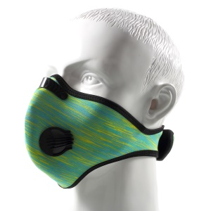 Cycling Protective Half Face Filter Mask Breathable & Dustproof with Carbon Fiber - Green