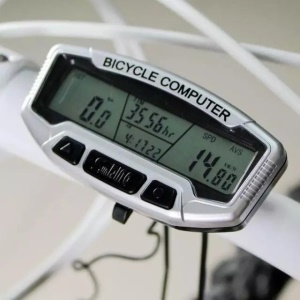SUNDING LCD Display Bicycle Computer Odometer Speedometer With Blue Backlight SD-558A