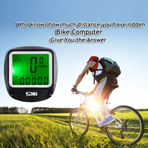 SUNDING Wired LCD Bike Computer Waterproof Odometer with Backlight SD-568