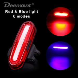 100LM Rechargeable COB LED USB Mountain Bike Tail Light Taillight Safety Warning Bicycle Rear Light