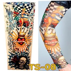 1 Par Tattoo Sport Ciclismo Sun Protective UV Cover Arm Sleeves - TS-08