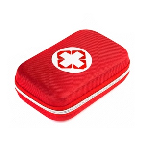 Portable First Aid Kit for Home Car Outdoor Camping/Climbing (18 Unique Items) - Red
