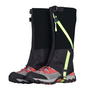 Outdoor Waterproof Camping Hiking High Leg Gaiters with Reflective Stripe for Children - Black
