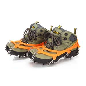Anti-slip Eight-toothed Crampons Traction Cleats for Walking on Snow and Ice - Orange
