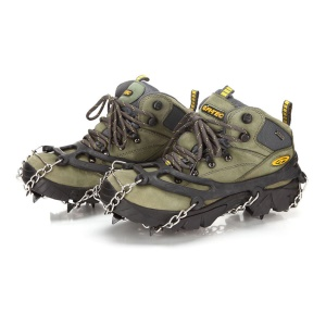 Eight-toothed Crampons Slip-proof Traction Cleats for Walking on Snow and Ice - Black