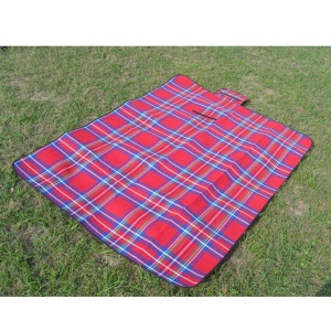 Outdoor Portable Cushion Waterproof Picnic Mat, Size: 200 x 150cm - Rose