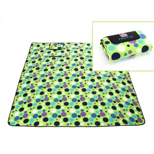 Thickened Picnic Blanket Tote Moisture-proof Mat Pad (200 x 200cm) - Polka Dot