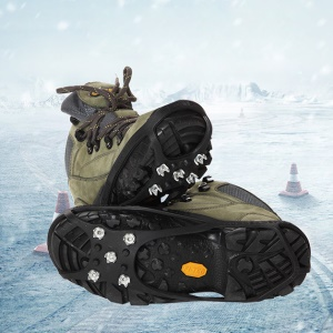 Magic Spike Elastic Rubber Round Five Toothed Crampons Ice Cleats for Outdoor Sports, Walking, Hiking Shoes and Boots