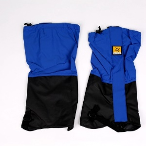 Outdoor Waterproof Camping Hiking High Leg Gaiters with Reflective Stripe - Sapphire Blue
