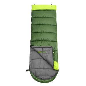WIND TOUR Outdoor Camping Thick Hollow Cotton Envelope Type Splicing Sleeping Bag - Left Opening / Army Green (1.35kg)