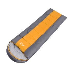 WIND TOUR Autumn Winter Envelope Hooded Sleeping Bag Outdoor Travel Camping Adult Sleeping Bag - Orange