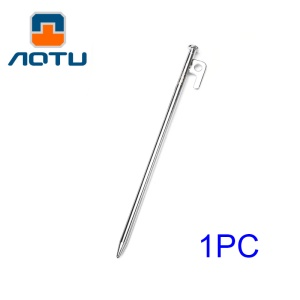 AOTU 300mm Long Ground Nail Solid Iron Nail Tent Stake for Outdoor Camping (AT6541)