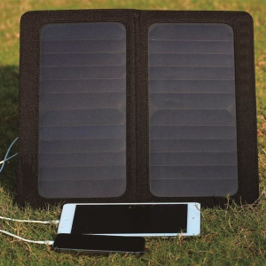 13W Solar Power Panel Charger Foldable with Dual USB for iPhone Samsung