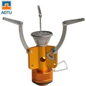 AOTU TLS-107 Portable Stainless Steel Gas Stove Picnic Furnace Cookware for Outdoor Camping Travel