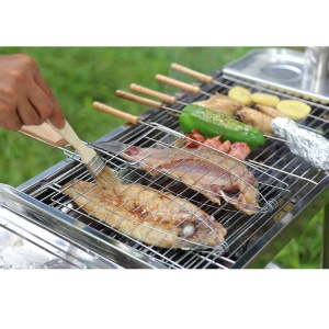 AOTU AT6337 Ergonomic BBQ / Grill Basting Bristles Brush with Wooden Handle