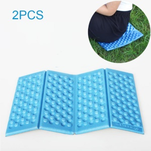 2PCS/Pack Foldable Hiking Camping Mat Outdoor Picnic Pad Cushion, Size: 39 x 27 x 1cm - Blue