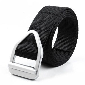 Nylon Military Style Casual Army Outdoor Tactical Buckle Belt - Black