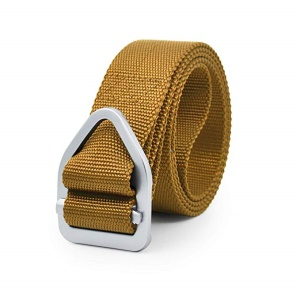 Nylon Military Style Army Outdoor Tactical Webbing Buckle Belt - Khaki