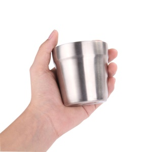 AT6648 Double Wall Stainless Steel Wine Glass Portable Wine Cup