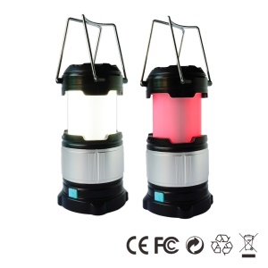 180LM HBD-CL20 USB Rechargeable Retractable Camping Lamp