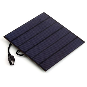 4.5W 5V DIY Monocrystalline Silicon Solar Panel with USB Port, 16.5 x 16.5 x 0.2cm